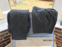 2 pairs Boys school trousers, one short, one long, size age 8-9, very good condition