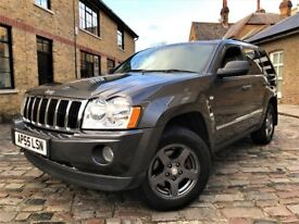 Jeep Grand Cherokee 5.7 V8 Limited 4x4 5dr, ONLY 1 OWNER*6 MONTHS WARRANTY 2006 (55 reg), SUV
