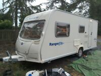 2008 Bailey Ranger 510/4, 4 berth caravan with mover, awning and starter kit.