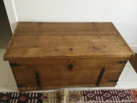 Wooden chest with iron details