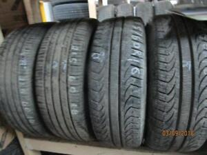 215/60R16 PAIR OF USED PIRELLI A/S TIRES