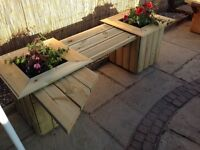 Double heavy Planter with single bench , free delivery