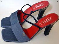 Women's Versace Classic V2 Blue Shoes Size 40 Heels Designer