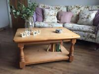 Rustic pine farmhouse coffee table