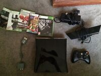 Xbox 360 KINECT 250gb -with games