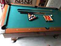 Slate Bed American Pool Table 7ft