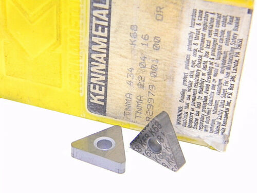 NEW SURPLUS 7PCS. KENNAMETAL  TNMA 434  GRADE: K68  CARBIDE INSERTS