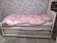 Delano white guest bed 2 x single