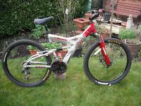 "Boys / Mens Kinesis Mountain Bike - 18"" Aluminium Frame - 21 Gears - Full Suspension - Front Disc"