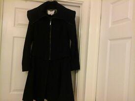 Coat black size 10.