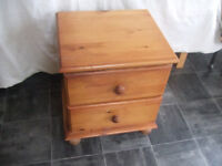 Pine 2 Drawer Bedside Cabinet for Collection Only from Essex (Poss 2 Available)