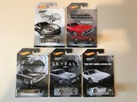 Full Set Of James Bond Hotwheels Model Cars POSTAGE INCLUDED