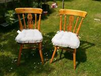 Solid Pine Dining Chairs