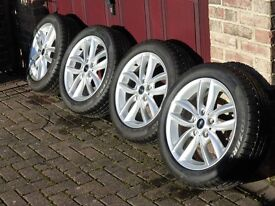 Four 17'' winter wheels with Pirelli run flat tyres for Mini Countryman in excellent condition