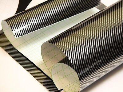 2D Carbonfolie Silber 152 cm x 100 cm  Blasenfrei mit Luftkanäle Car Wrapping