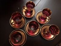 Turkish cup and saucer glasswear