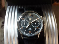 Junkers Men's German Made Watch Quartz Chronograph XL Leather 38 G 69845