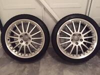 """Genuine 18"""" Inch Audi BBS Split Face Calito Alloy Wheels Fit VW SEAT SKODA"""
