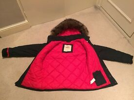 Large men's Hollister coat with fur hood