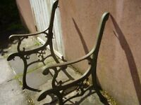 WROUGHT IRON BENCH ENDS IN EXCELLENT CONDITION