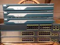 CISCO CCNA CCNP LAB KIT 3x1841 ROUTER 2x3750 SWITCH 1x2960 SWITCH
