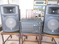 Peavey XRD680S 8 channel mixer amp and pair of Class D 1x12 + horn speakers