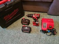 Milwakee 18v Combi Drill Set Good Condition