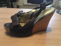 Brand new next peep toe sling back size 6