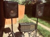 Peavey Mixer and speakers