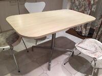 Rectangular wooden kitchen table