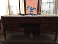 Retro style 5 drawer dressing table, shabby chic paint would do it wonders, must be gone by Tuesday