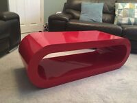 Zespoke Hoop Coffee table/TV stand - Pillar Box Red