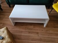 White coffee table - collection only