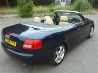 Audi A4 CONVERTIBLE 1.8T SPORT AUTOMATIC EXCLUSIVE LEATHER TRIM