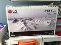 LG 4K Tv 43 inch HDR BRAND NEW