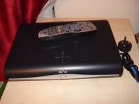 sky plus hd satellite box free view with remote and power cable