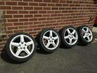 """Mercedes 17"""" AMG Alloy wheels x4 with Tyres Included"""