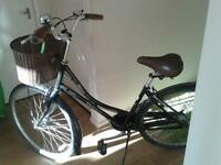 lovely ladies bicycle for sale...basket on front...recent service at halfords...easy to ride!!