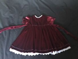 Handmade Traditional Christmas dress and pinny