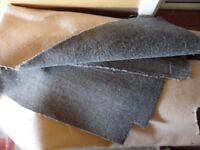 nice quality thick grey carpet, used