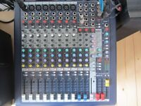 Soundcraft MFXi8 mixer C/W box, manual and some mic leads. 16 inputs altogether