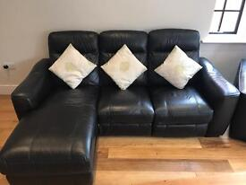 Corner sofa and matching armchair - leather