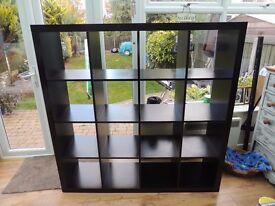 Ikea Expedit 150cm x 150cm 16 cube unit in Black