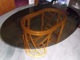 Glass Topped Conservatory / Dining Table