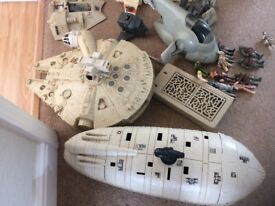 Collectables of Original Star War figures and space ships