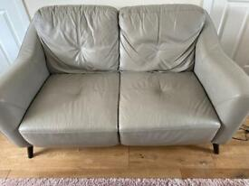 Dfs grey leather sofas x2 and x3 seater