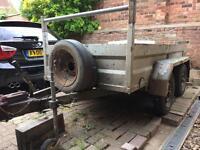 8x4 twin axle trailer with breaks