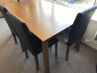 Dining table and 6 chairs - must go asap