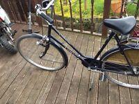 dutch bike realy nice retro nice crome, inc, tool bag, bargain cost £350 new ladies bike