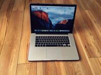 "MacBook Pro with Retina Display, 15.4"" i7, 256GB Flash Storage, 16GB RAM"